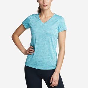 Eddie Bauer Free Dry V-Neck Short Sleeve T-Shirt